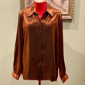 Christie & Jill shimmering copper blouse in sz 16